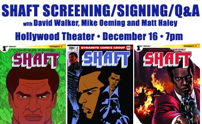 Shaft #1 Screening, Q&A and Signing with David Walker and Special Guests!