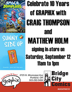 Space Dumplins & Sunny Side Up Release Party w/Craig Thompson and Matthew Holm!